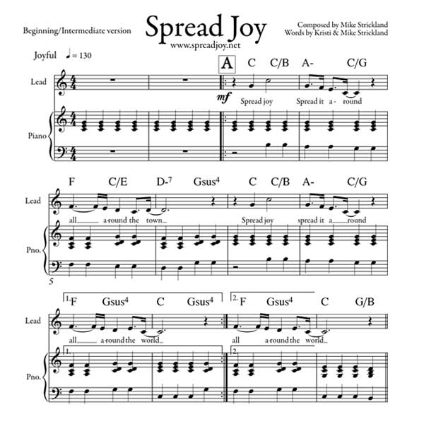 Canon In D Pachelbel Jazz Version For Piano Solo Sheet: Spread Joy : Mike Strickland