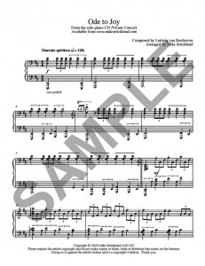 Mike Strickland - Ode to Joy SHEET p1